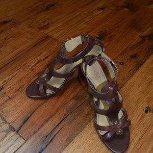 Franco Sarto - Brown Wedge Strappy Sandals